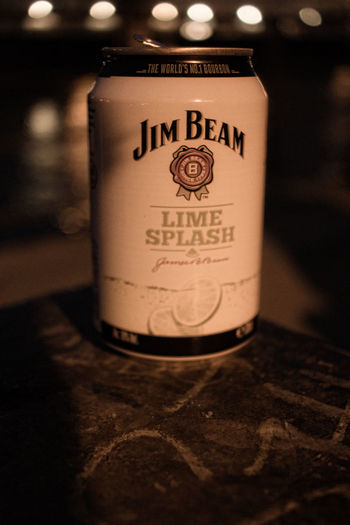 Close-up Communication Focus On Foreground Information Jim Beam Lime Splash Message No People Selective Focus Still Life Text Western Script