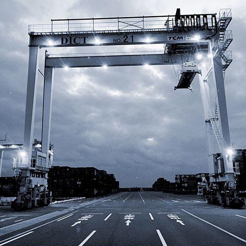 Crane Truck Container EyeEmBestPics Monochrome EyeEm Best Shots Blackandwhite EyeEm Hanging Out Eye Em Around The World
