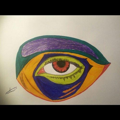 Eyes ArtWork Artist Colors Crazy Alpha Illuminati That's Me Normal People Scare Me Occhi