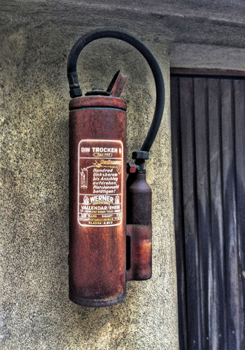 Close-up Day Fire Extinguisher No People Old Outdoors Still Life