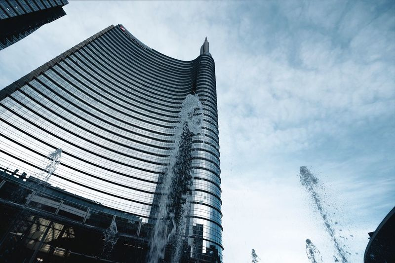 Built Structure Building Exterior Architecture Low Angle View Sky Building Cloud - Sky Tall - High Outdoors Office Nature Tree Tower Modern No People Skyscraper City Day Office Building Exterior Glass - Material