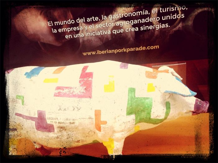 Iberian Pork Parade Hoy IPhoneography Art Work