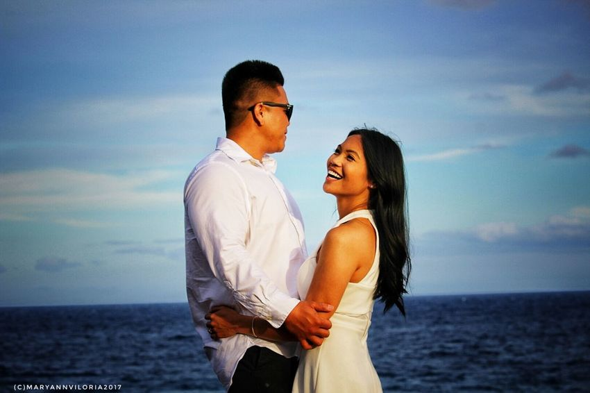 Romance Standing Happiness Togetherness Beautiful People Love Portrait Hawaiian Style Volcanic Landscape