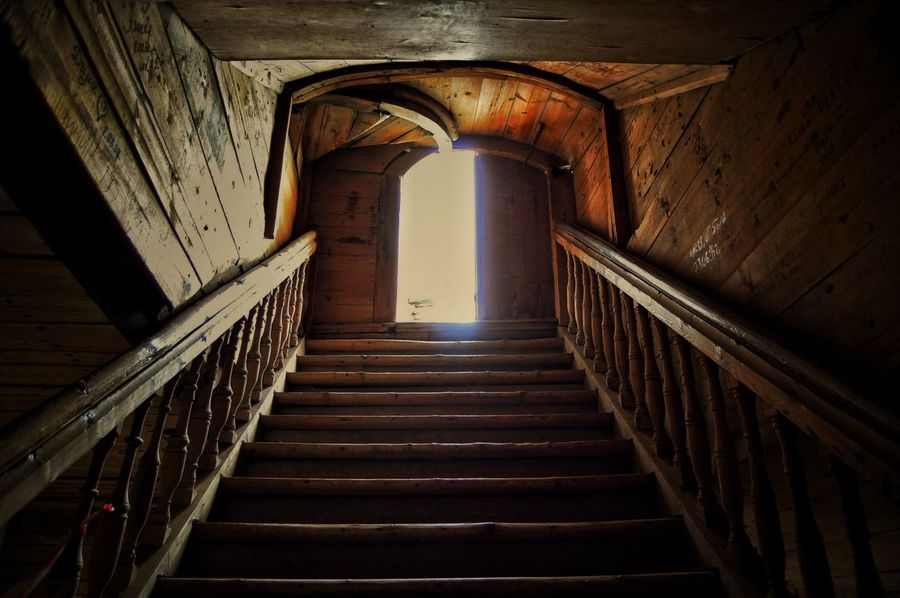 Staircase Steps And Staircases Steps Wood Indoors  Architecture Built Structure Travel Destinations No People Day Prison Stairs