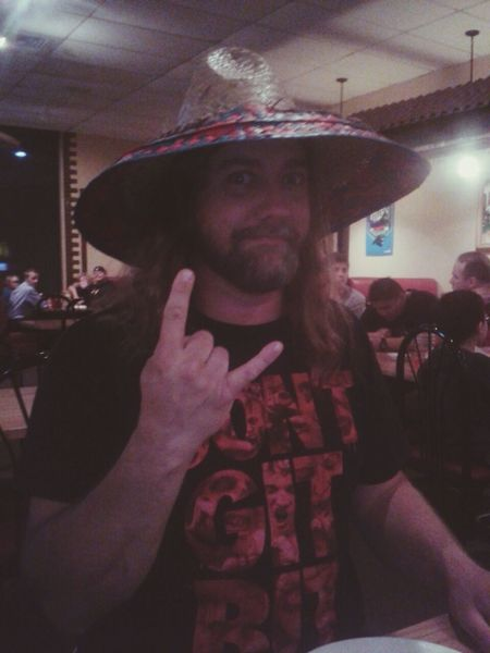 dads birthday yesterday. Pancho Villa Hipster Metalhead \m/ Best Dad Ever listen to his band at: acourseofaction.com