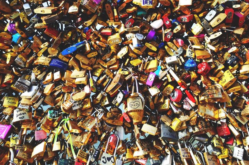 Love locks on the Pont des Arts, Paris. Paris Pont Des Arts Love Open Edit
