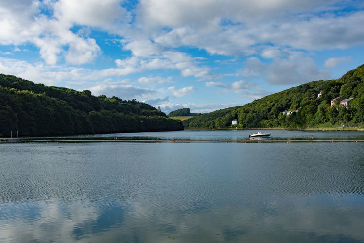 Cloud Beauty In Nature Cloud - Sky Clouds And Sky Day Estuary Looe Mountain Nature No People Outdoors River Scenics Sky Tranquil Scene Tranquility Water Waterfront