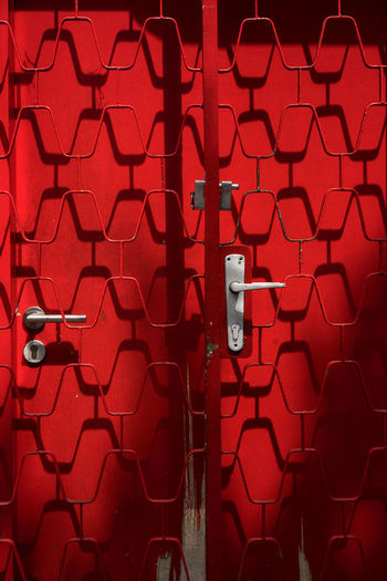 Abstract Close-up Day Door And Iron Gate Full Frame Light And Shadow No People Outdoors Red The Architect - 2018 EyeEm Awards