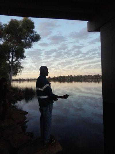 Winky fishing at Sherlock River