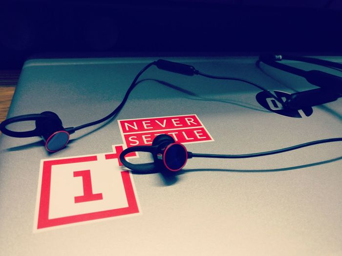 music to life. ( NEVER SETTEL) Earphones Music Oneplusphotography Communication High Angle View