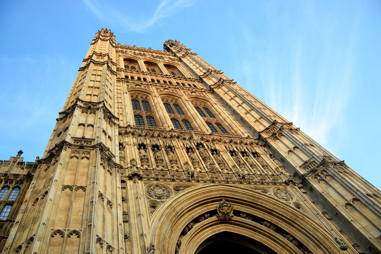 Low angle view of houses of parliament