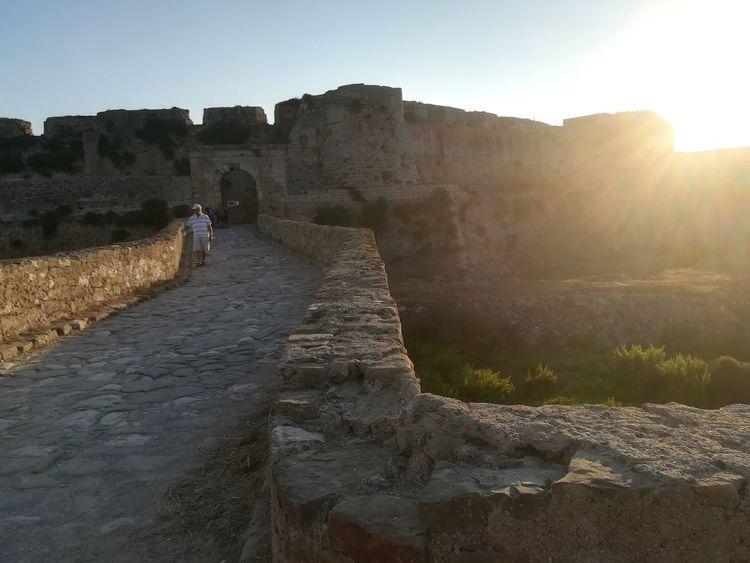 Greece Греция Kalamata каламата мессиния Messinia Methoni Castle Sunset Закат Ancient Civilization History Ancient Old Ruin Sunlight Sky Architecture Castle Archaeology