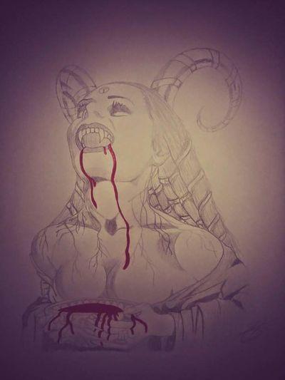 One of my drawings :) No People Drawing ✏ Woman Vampire EyeEmNewHere