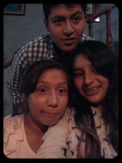 Con Josué y Marilu :3 Funny My Brother  Little Cousin