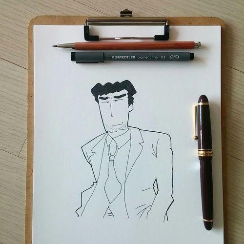 짱구아빠 Drawing Comics Fountainpen Art, Drawing, Creativity Check This Out www.fb.com/kim.yujupapa