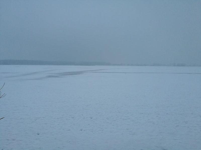 Sehr selten das der Altmühlsee komplett zufriert