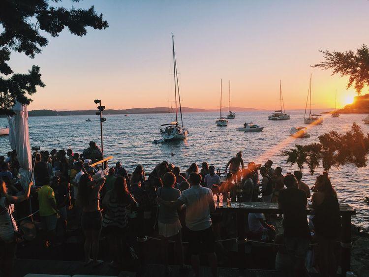 Hvar Croatia Beach Bar Dancing Sunset HulaHula