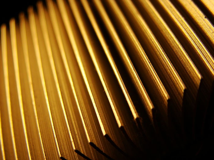 Close-up Copper  Heat Heatsink Macro Mammal No People Yellow