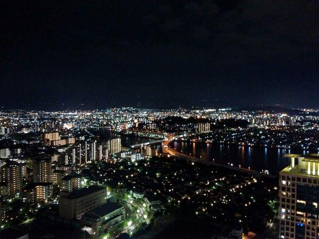 Fukuoka Tower, Fukuoka, Japan Observatory Sight Seeing Traveling Night Lights