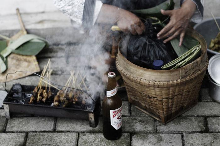 Food Satay Satay With Bamboo Stick Sataychicken