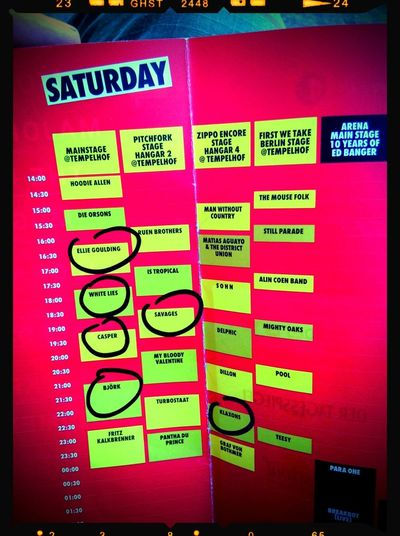Berlin Festival 2013 My Schedule Leroe24fotos.com Press-Pass