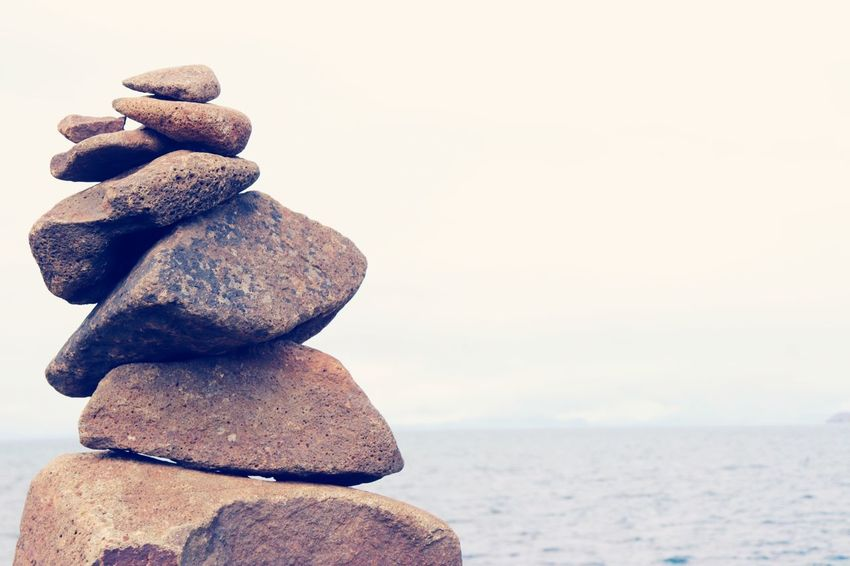 EyeEm Selects Stack Sky Balance Solid Rock Zen-like Stone - Object Water Nature Sea Land Rock - Object Pebble Beach Stone Tranquility No People Scenics - Nature Tranquil Scene Horizon Over Water