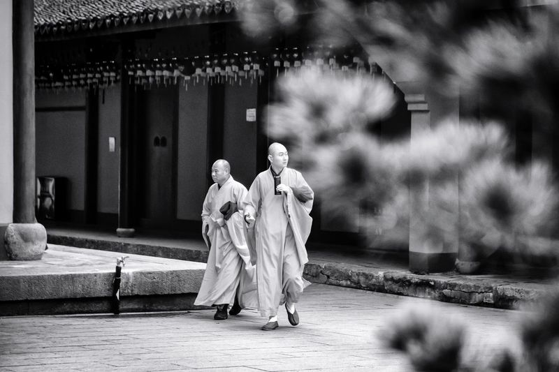 The Street Photographer - 2017 EyeEm Awards Streetphotography Real People Monks Religion Spirituality Traditional Clothing Place Of Worship China Shanghai