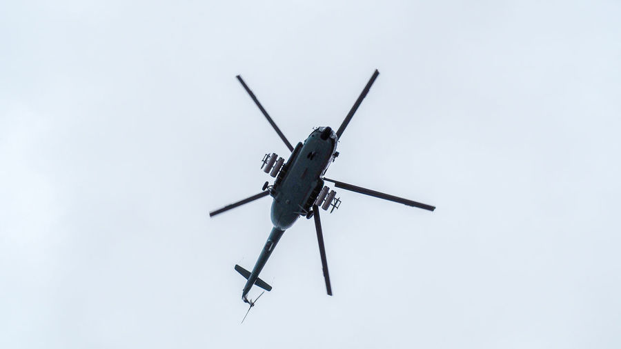 Air Vehicle Airplane Day Flying Helicopter Laos Military Mode Of Transportation Nature No People Security Single Object Sky Transportation
