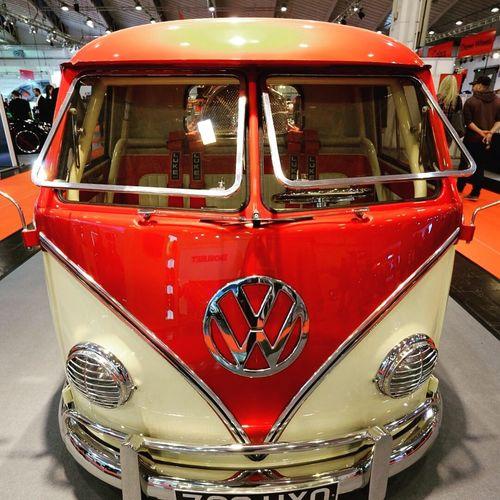 Van VW Red Car CarShow