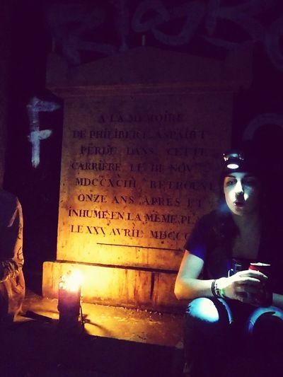 Catacombes Night Underground Street Paris