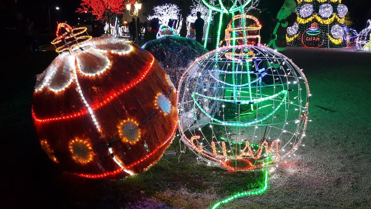 night, illuminated, no people, celebration, christmas decoration, outdoors, christmas lights, multi colored, close-up
