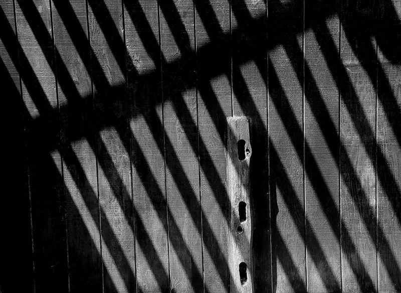 Light And Shadow Contrast Minimal Texture Wood Geometry Blackandwhite Shadow Corrugated Iron Pattern Striped LINE Close-up Parallel Building #urbanana: The Urban Playground