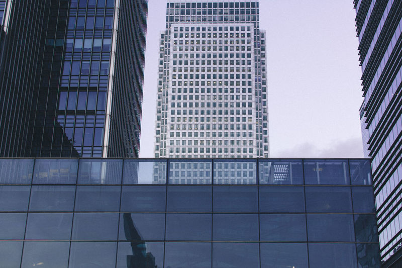 Canary Wharf Architecture Architecture Building Exterior Built Structure Canada Square Canary Wharf City Empty City Empty Places Floating Lotus Grid Hidden Gems  Isolation Leading Lines London Low Angle View Modern No People One Canada Square Outdoors Reflection Skyscraper Tower Urban Geometry Zombie Land