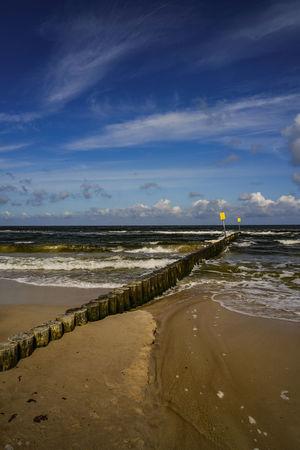 Kołobrzeg Kolberg Ostsee Baltic Sea Baltic Sea Baltic Coast Poland Polska Polen Beach Sand Travel Destinations Vacations Cloud - Sky Landscape Beauty In Nature Low Tide Wave Water Sky