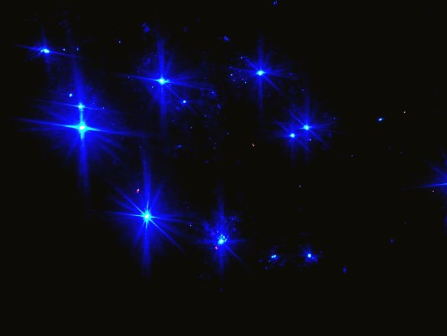 Star - Space No People Christmas Home Interior Colors Christmas Decoration Blue Color Luces Navideñas