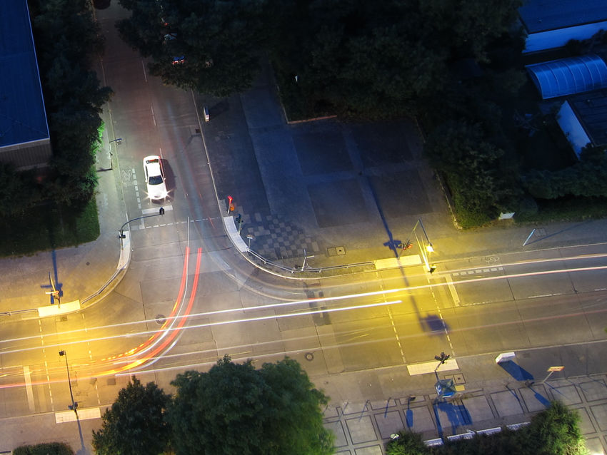 Berlin Gropiusstadt Intersection City City Life High Angle View Intersection On The Move Street Transportation Urban