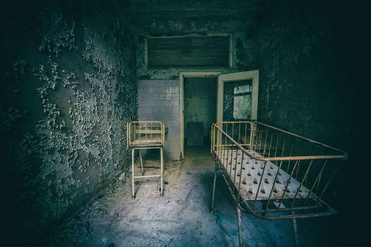 Cots in pripyat hospital