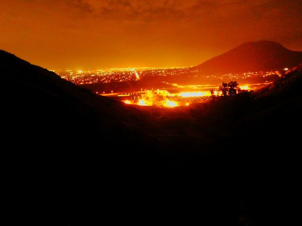 I.E. Glow EyeEmNewHere Volcano Heat - Temperature No People Outdoors Silhouette Nature Night Molten Power In Nature