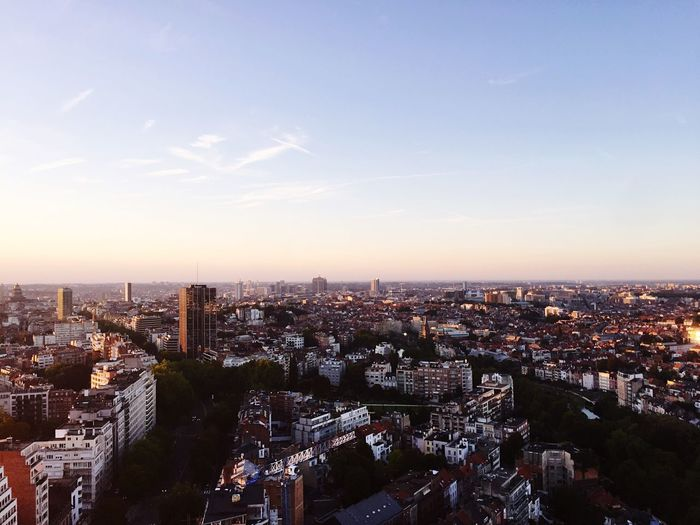 Sunset on Brussels rooftop of La Villa In The Sky Villa In The Sky Brussels EyeEm Selects Building Exterior City Cityscape Architecture Built Structure Sky Sunset City Life Skyscraper #urbanana: The Urban Playground