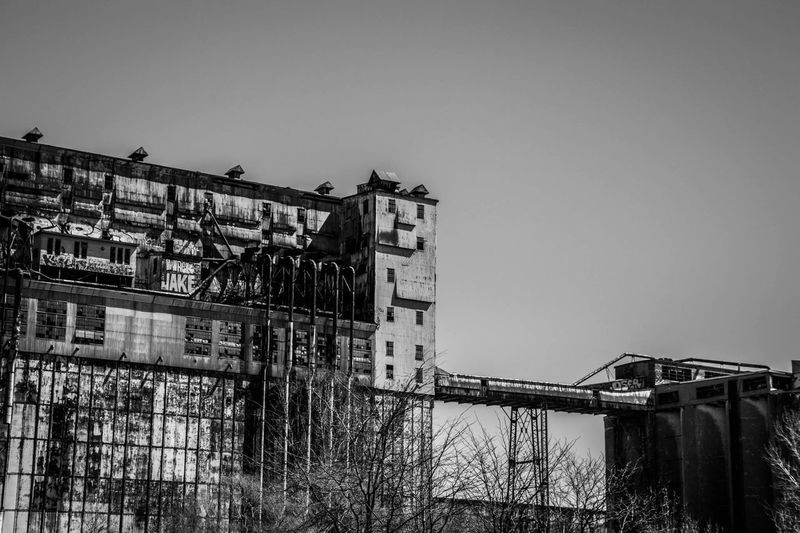 Picture Picoftheday Old Ruin Old Urban Nikonphotography Nikon Blackandwhite Bnw Historical Building Historic Sky Built Structure Architecture Building Exterior Building Clear Sky Nature No People Low Angle View Industry City Outdoors