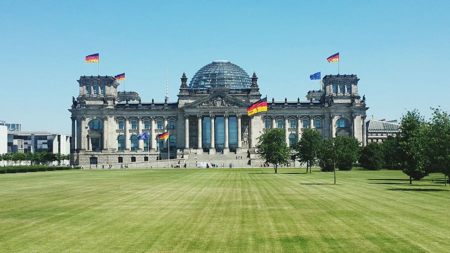 View of reichstag building