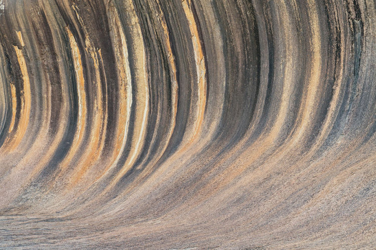 Spectacular wave rock, famous place in the outback of western australia