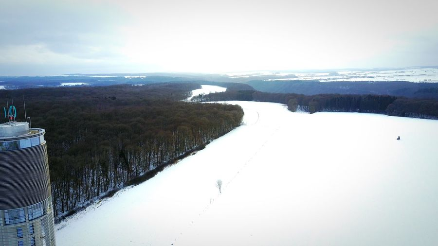 Winter Cold Temperature Nature Snow Scenics Sky Beauty In Nature Mountain Tranquil Scene Landscape Aerial View Outdoors No People Day Tree DJI Mavic Pro Luxembourg Berdorf Tranquility