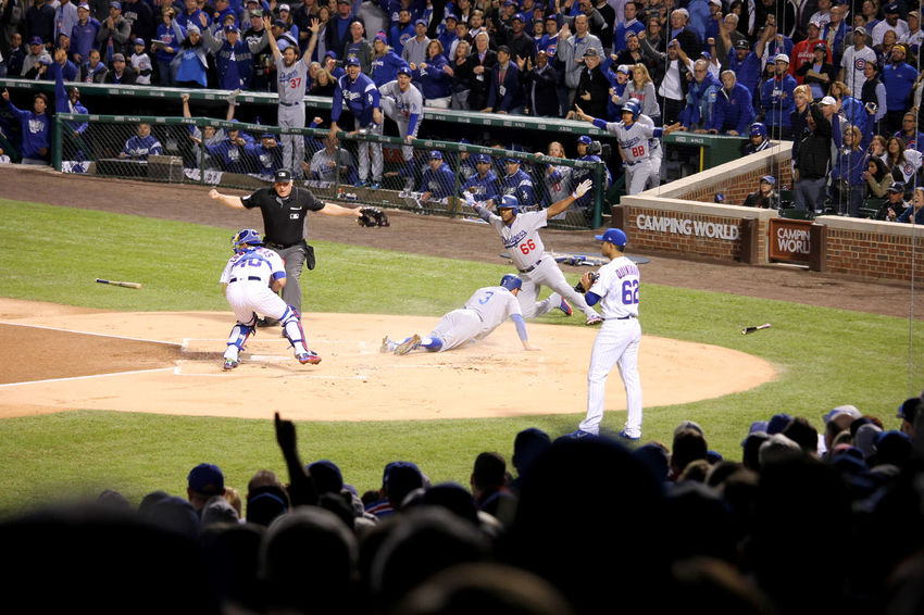 #NLCS #baseball Is Life #chicagocubs #home Run #losangelesdodgers #safe Audience Baseball - Sport Competition Competitive Sport Crowd Day Field Large Group Of People Leisure Activity Men Outdoors People Playing Real People Spectator Sport Sportsman Stadium Watching