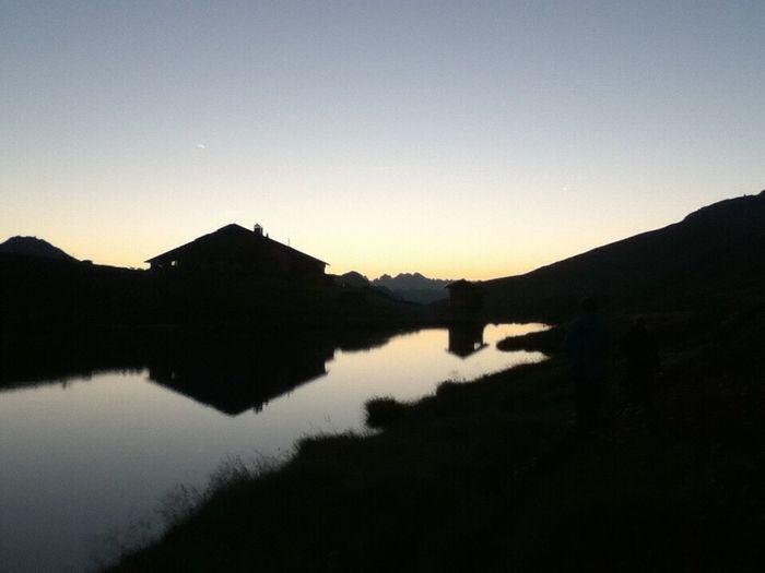 Sunset on a mountaintop. Sunset Mountain France