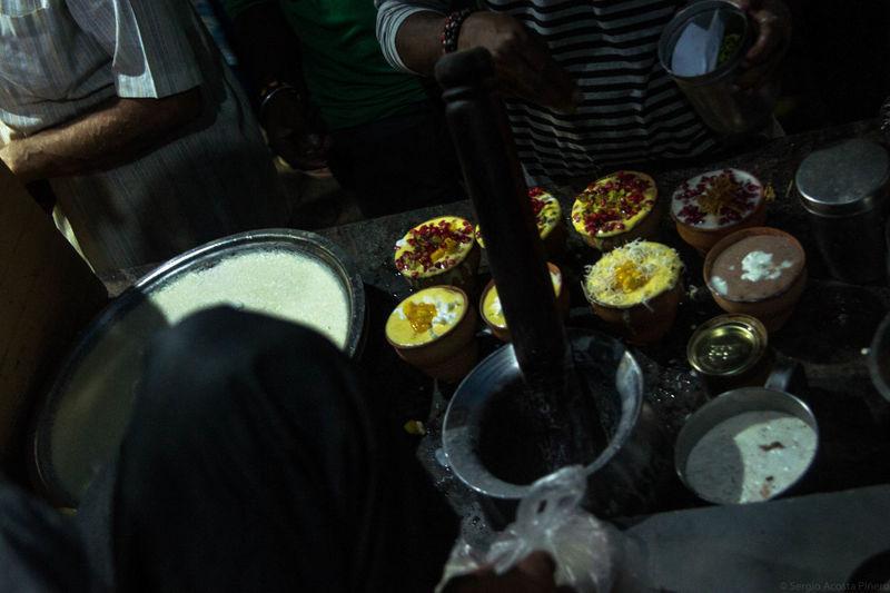 Blue lassi (best lassies in Varanasi) // Food Lassi Blue Lassi Varanassi Fruit Yogourt City Close-up