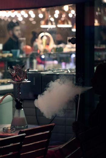 Smoking Smoke Smoking Turkish Food Barefoot Drink Food And Drink Indoors  Nightlife Restaurant Table Turkish