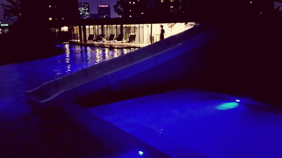 Night swim.