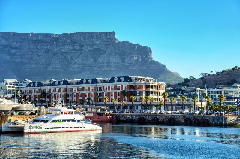 Capetown and table mountain Water Sea Mountain Beach Nautical Vessel House Harbor Vacations No People Town Summer Yacht Outdoors
