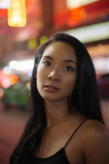 Alone Asian  Bangkok Bangkok Thailand. Chinatown Chinatown Bangkok Girl Power Night Photography Nightphotography Thai Thailand Asian Girl Beautiful Woman Chinese Woman Portrait The Modern Professional